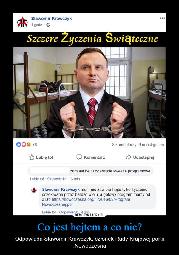 Co jest hejtem a co nie? – Odpowiada Sławomir Krawczyk, członek Rady Krajowej partii .Nowoczesna