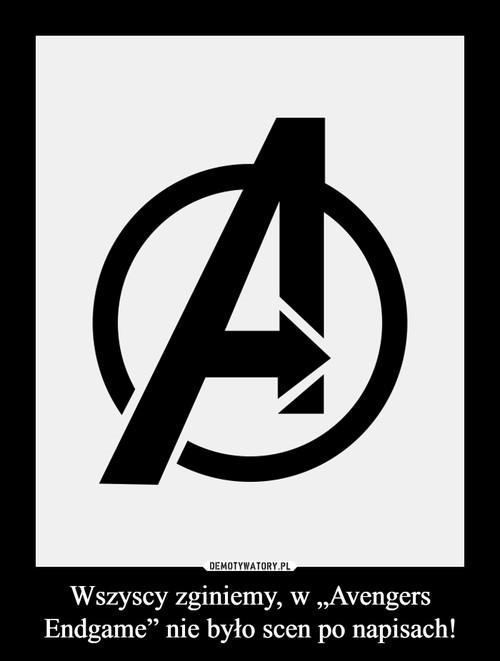 """Wszyscy zginiemy, w """"Avengers Endgame"""" nie było scen po napisach!"""