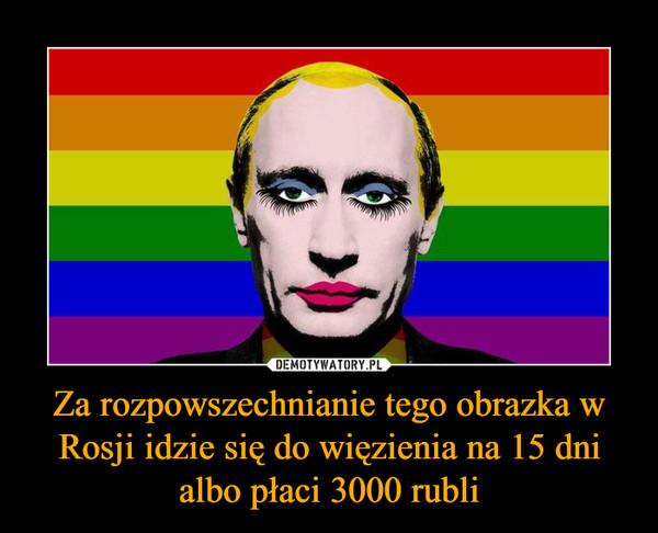 Za rozpowszechnianie tego obrazka w Rosji idzie się do więzienia na 15 dni albo płaci 3000 rubli –