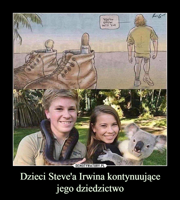 Dzieci Steve'a Irwina kontynuującejego dziedzictwo –