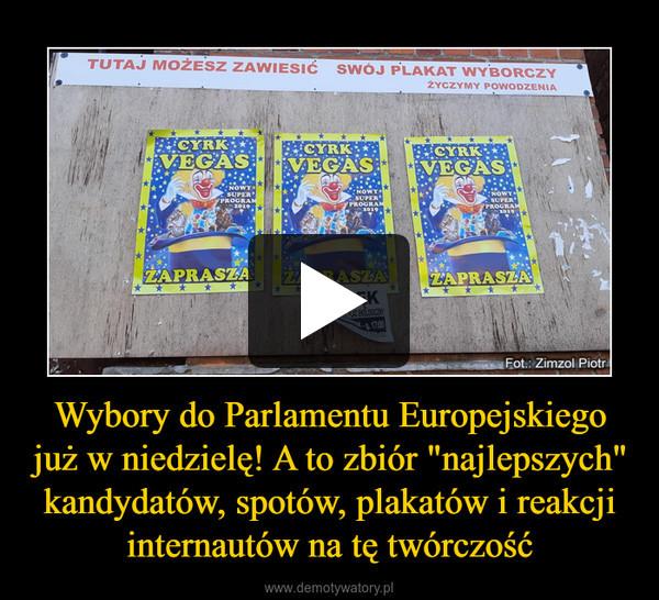 """Wybory do Parlamentu Europejskiego już w niedzielę! A to zbiór """"najlepszych"""" kandydatów, spotów, plakatów i reakcji internautów na tę twórczość –"""