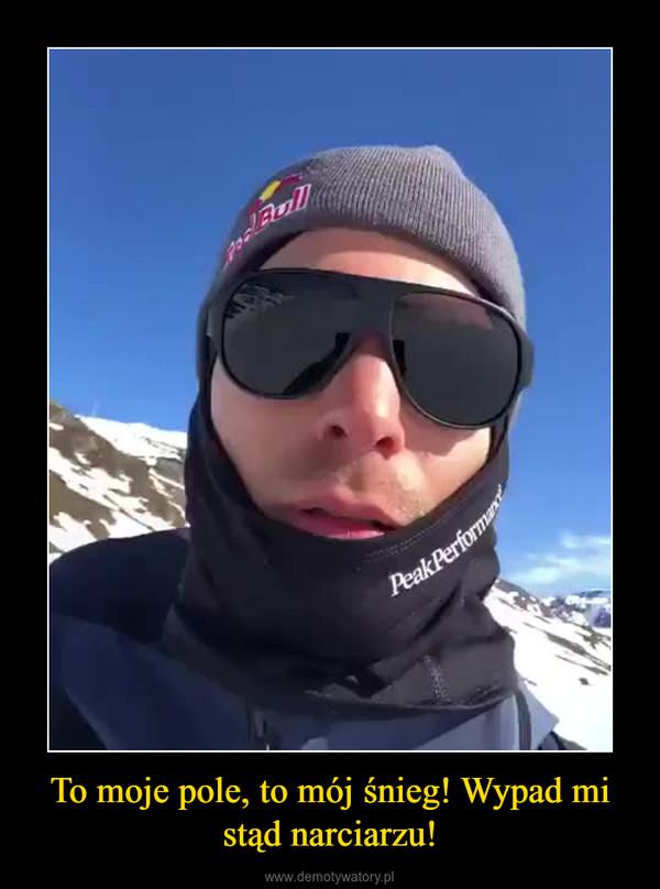 To moje pole, to mój śnieg! Wypad mi stąd narciarzu! –