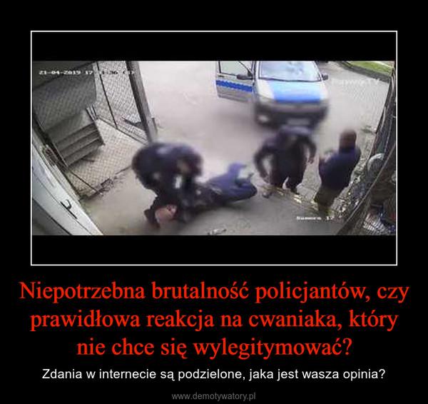 Niepotrzebna brutalność policjantów, czy prawidłowa reakcja na cwaniaka, który nie chce się wylegitymować? – Zdania w internecie są podzielone, jaka jest wasza opinia?