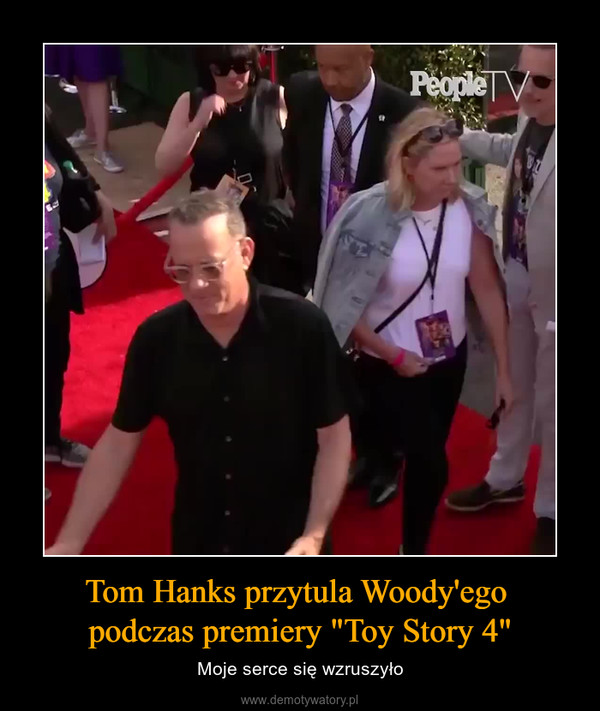 """Tom Hanks przytula Woody'ego podczas premiery """"Toy Story 4"""" – Moje serce się wzruszyło"""