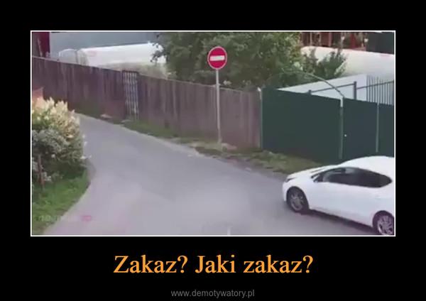 Zakaz? Jaki zakaz? –