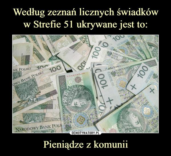 Pieniądze z komunii –