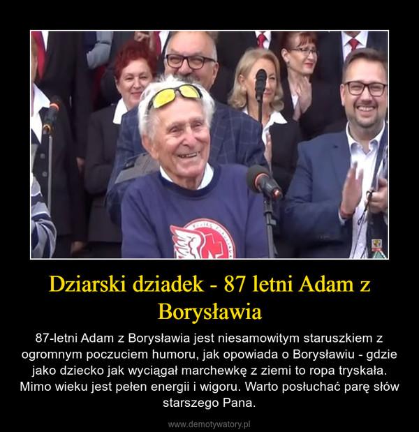 Dziarski dziadek - 87 letni Adam z Borysławia – 87-letni Adam z Borysławia jest niesamowitym staruszkiem z ogromnym poczuciem humoru, jak opowiada o Borysławiu - gdzie jako dziecko jak wyciągał marchewkę z ziemi to ropa tryskała. Mimo wieku jest pełen energii i wigoru. Warto posłuchać parę słów starszego Pana.