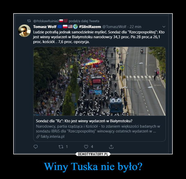 Winy Tuska nie było? –