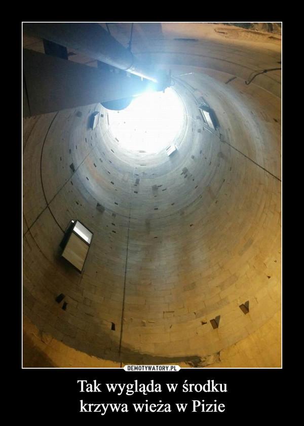 Tak wygląda w środkukrzywa wieża w Pizie –