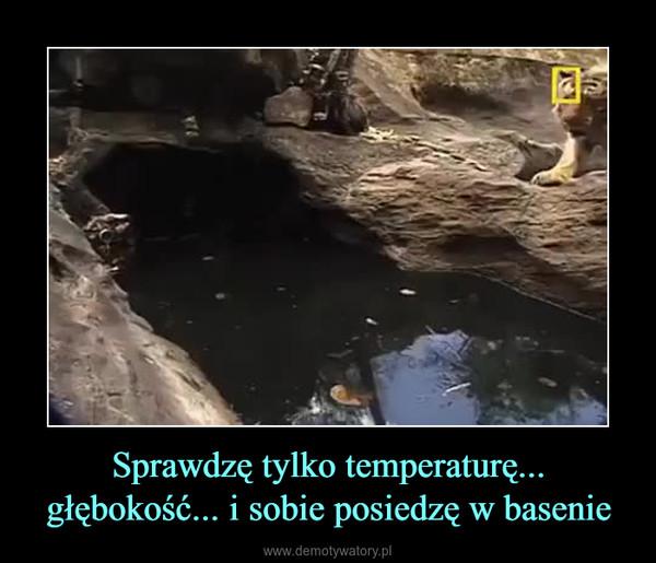 Sprawdzę tylko temperaturę... głębokość... i sobie posiedzę w basenie –