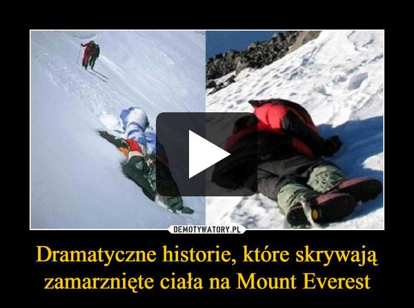 Dramatyczne historie, które skrywają zamarznięte ciała na Mount Everest –