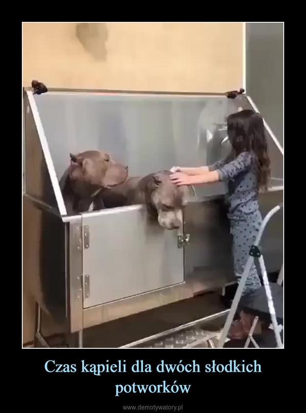 Czas kąpieli dla dwóch słodkich potworków –