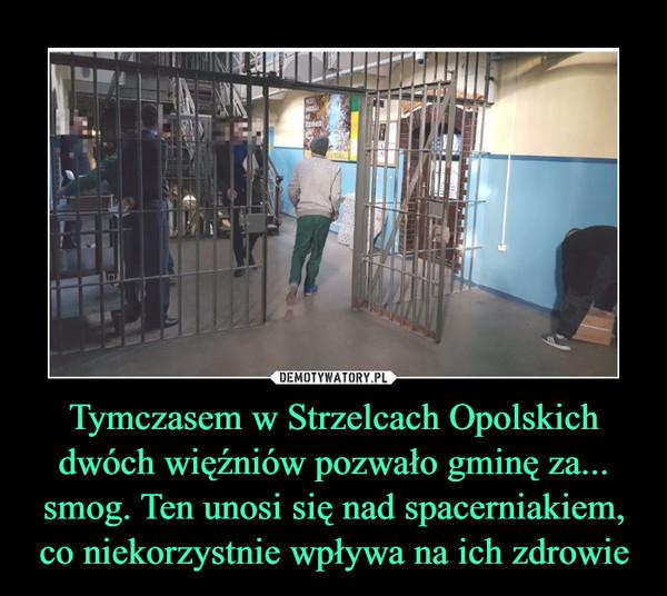 Tymczasem w Strzelcach Opolskich dwóch więźniów pozwało gminę za... smog. Ten unosi się nad spacerniakiem, co niekorzystnie wpływa na ich zdrowie –