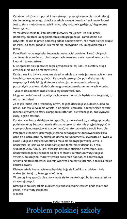 Problem polskiej szkoły