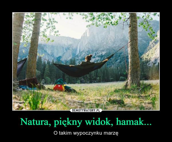 Natura, piękny widok, hamak... – O takim wypoczynku marzę
