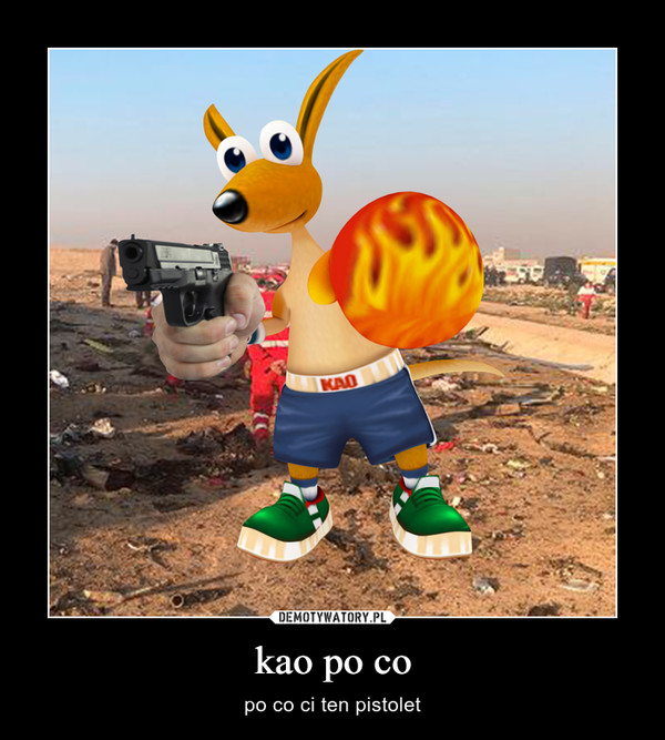 kao po co – po co ci ten pistolet