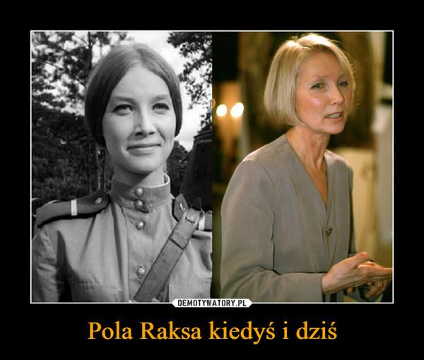 Pola Raksa kiedyś i dziś –