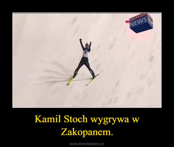 Kamil Stoch wygrywa w Zakopanem. –