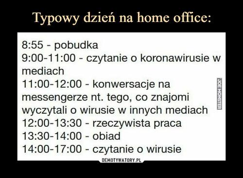 Typowy dzień na home office: