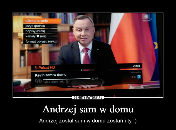 Andrzej sam w domu – Andrzej został sam w domu zostań i ty :)
