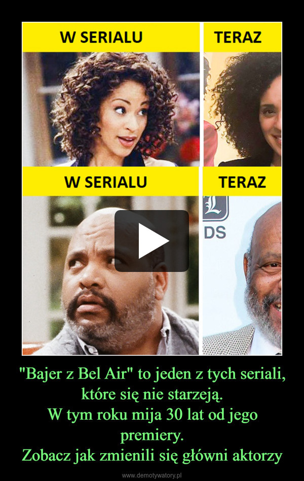 """""""Bajer z Bel Air"""" to jeden z tych seriali, które się nie starzeją.W tym roku mija 30 lat od jego premiery.Zobacz jak zmienili się główni aktorzy –"""