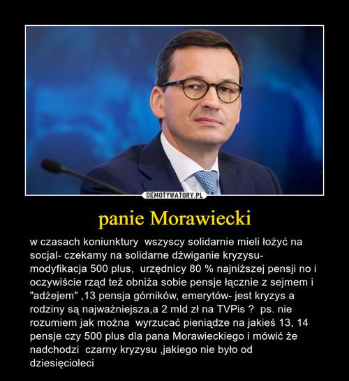 panie Morawiecki