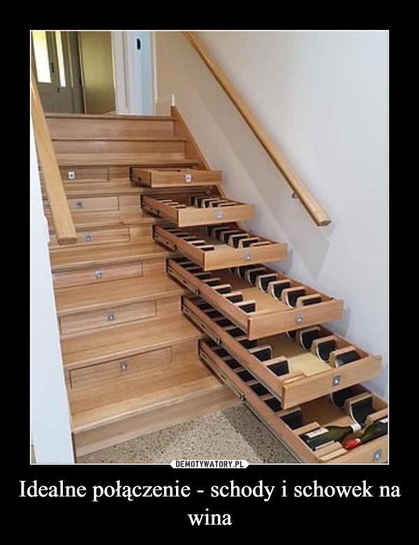 Idealne połączenie - schody i schowek na wina –