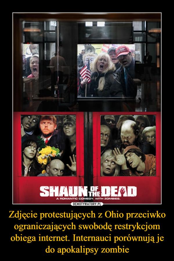 Zdjęcie protestujących z Ohio przeciwko ograniczających swobodę restrykcjom obiega internet. Internauci porównują je do apokalipsy zombie –