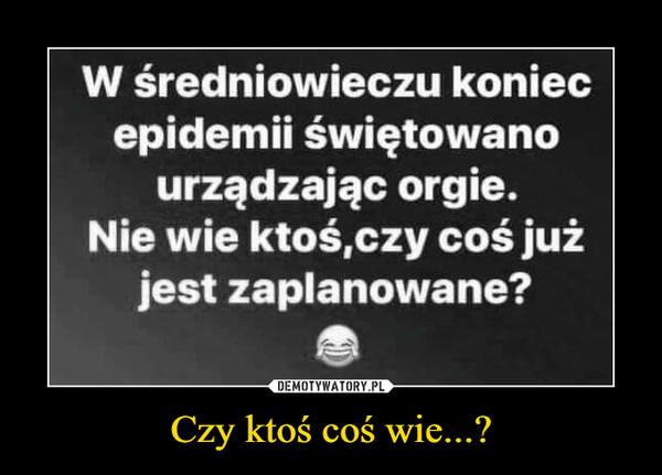 Czy ktoś coś wie...? –