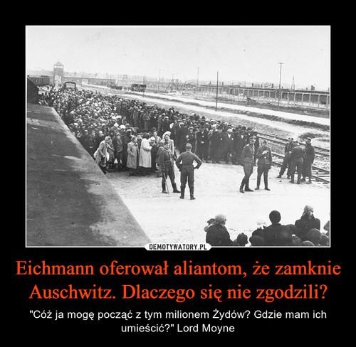 Eichmann oferował aliantom, że zamknie Auschwitz. Dlaczego się nie zgodzili?