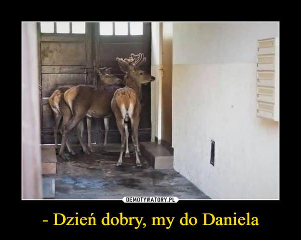 - Dzień dobry, my do Daniela –