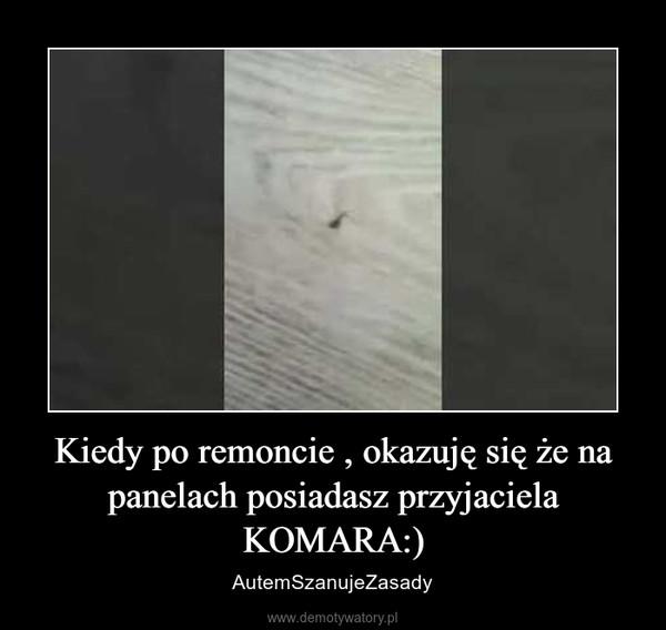 Kiedy po remoncie , okazuję się że na panelach posiadasz przyjaciela KOMARA:) – AutemSzanujeZasady