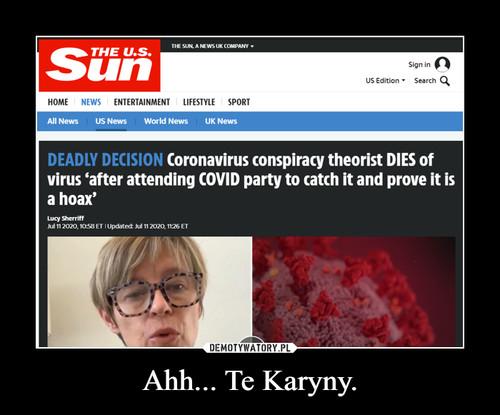 Ahh... Te Karyny.