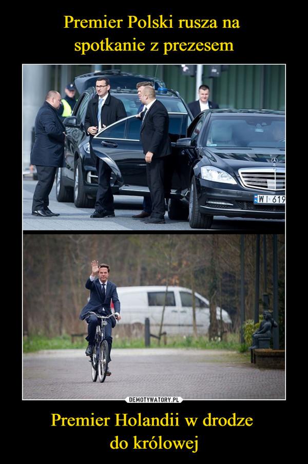 Premier Holandii w drodze do królowej –