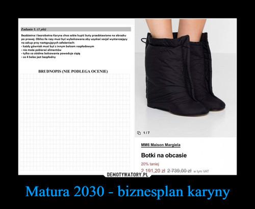 Matura 2030 - biznesplan karyny