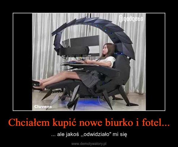 """Chciałem kupić nowe biurko i fotel... – ... ale jakoś ,,odwidziało"""" mi się"""