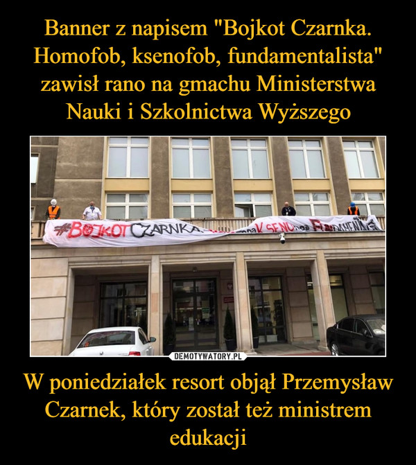 W poniedziałek resort objął Przemysław Czarnek, który został też ministrem edukacji –