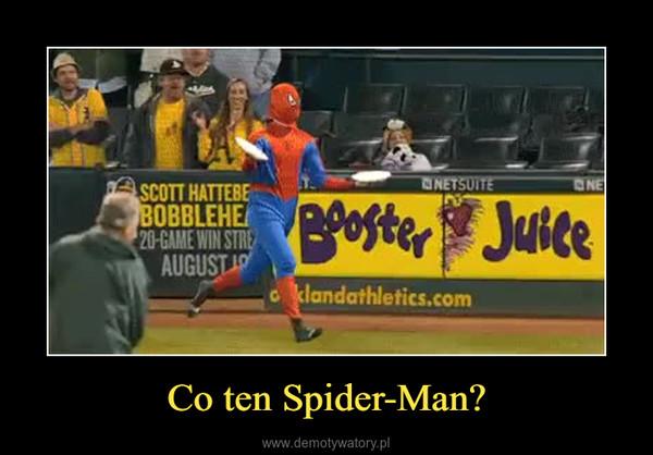 Co ten Spider-Man? –