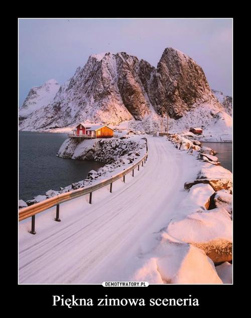 Piękna zimowa sceneria