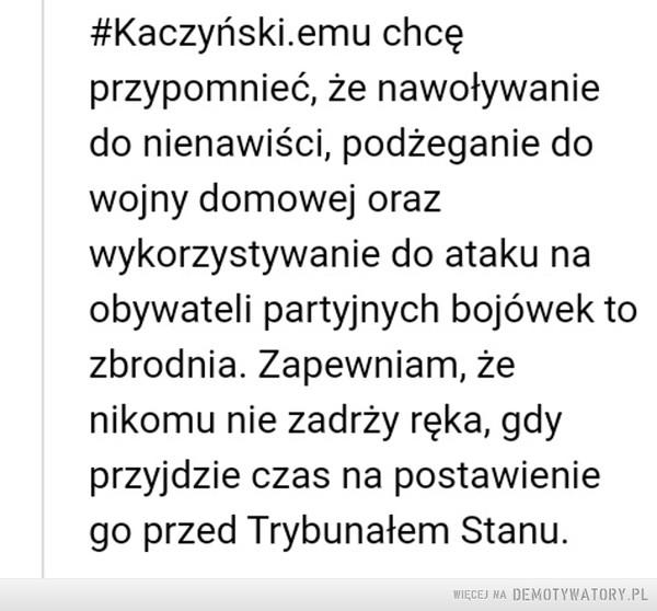 PREZES BÓG KACZYŃSKI – polski wstyd