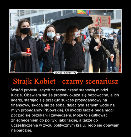 Strajk Kobiet - czarny scenariusz