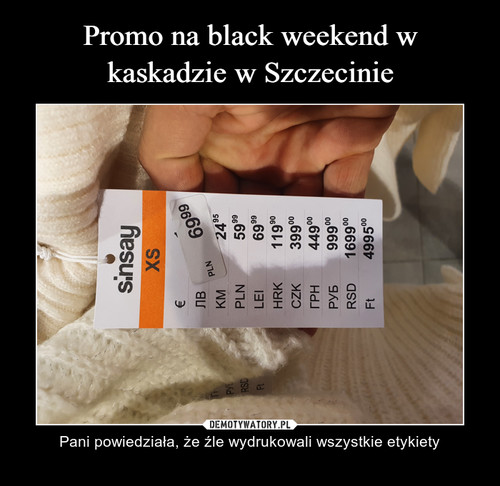 Promo na black weekend w kaskadzie w Szczecinie