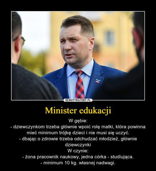 Minister edukacji