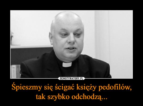 Śpieszmy się ścigać księży pedofilów,tak szybko odchodzą... –