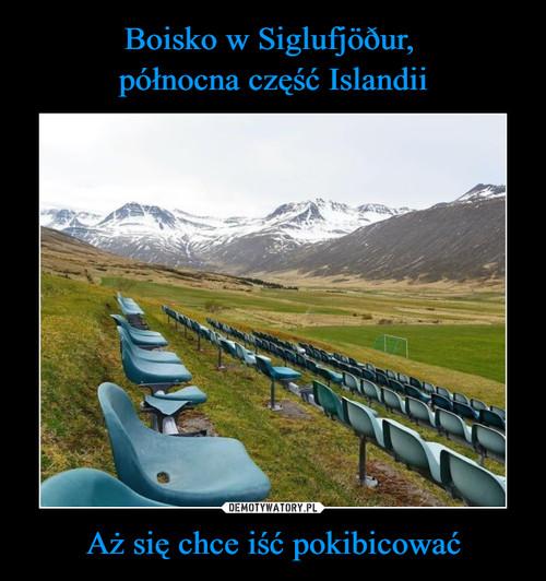 Boisko w Siglufjöður,  północna część Islandii Aż się chce iść pokibicować
