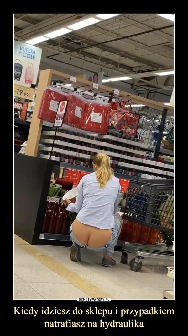 Kiedy idziesz do sklepu i przypadkiem natrafiasz na hydraulika –
