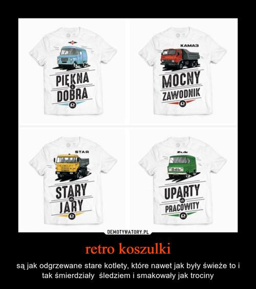 retro koszulki