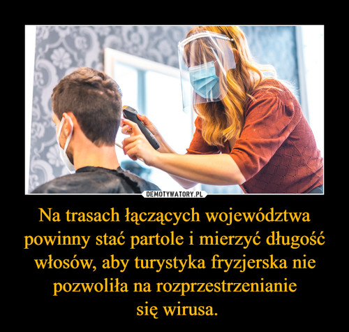 Na trasach łączących województwa powinny stać partole i mierzyć długość włosów, aby turystyka fryzjerska nie pozwoliła na rozprzestrzenianie  się wirusa.