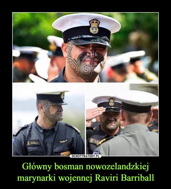 Główny bosman nowozelandzkiej marynarki wojennej Raviri Barriball –