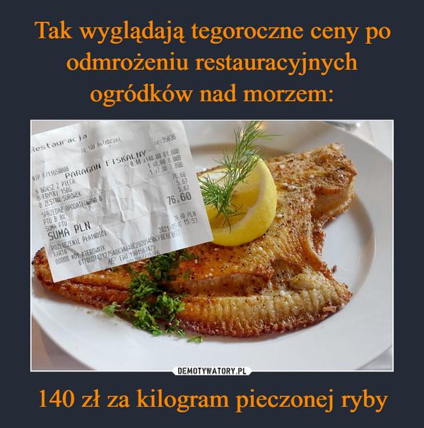140 zł za kilogram pieczonej ryby –